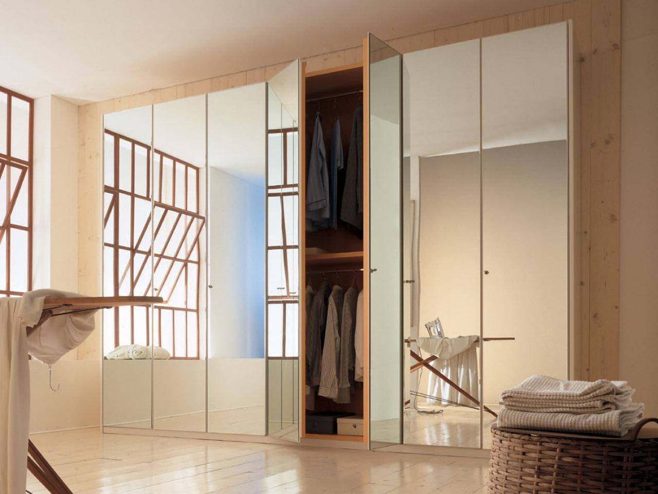 options for mirrored closet doors | hgtv FBUIPTO