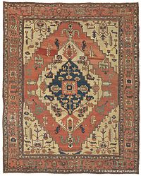 oriental rug left image: silk tabriz persian rug with a predominantly curvilinear  design. right TMJMLDT