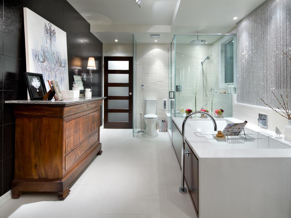 our favorite designer bathrooms | hgtv YETGXIB
