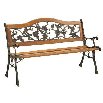 outdoor benches 2-person antique oak finish outdoor bench WXHANPB