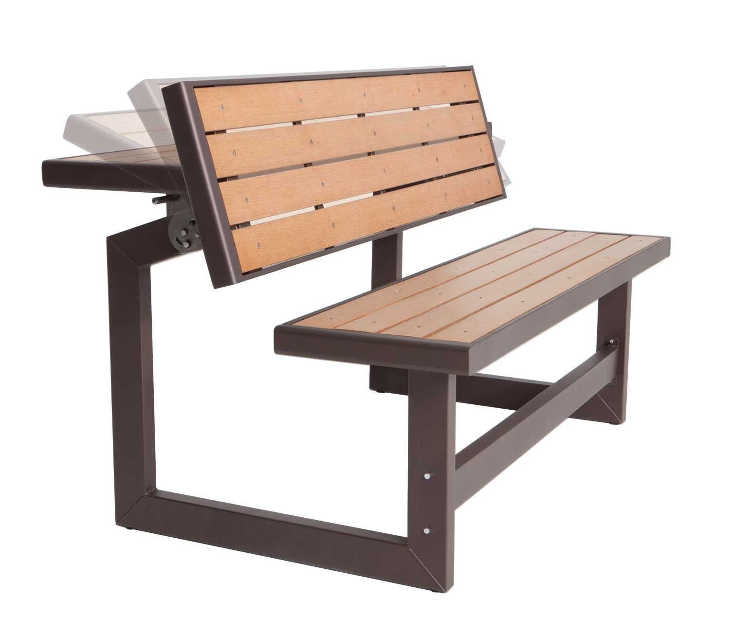 outdoor benches amazon.com : lifetime 60054 convertible bench / table, faux wood  construction : VPZMXCJ