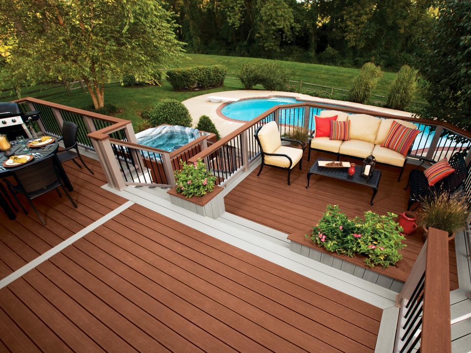 outdoor deck ideas amazing deck designs hgtv QSHDPDA