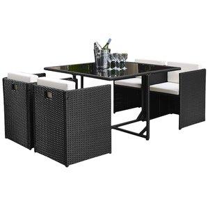 outdoor dining set modern outdoor dining sets | allmodern GUFPCIZ