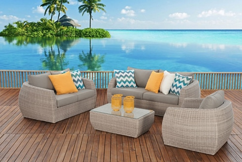 outdoor furniture perth ella package 3 seater + 2 seater + armchair + coffee table ZDMOLSA