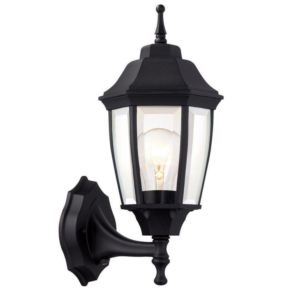 outdoor light hampton bay 1-light black dusk-to-dawn outdoor wall lantern VIVAGOZ