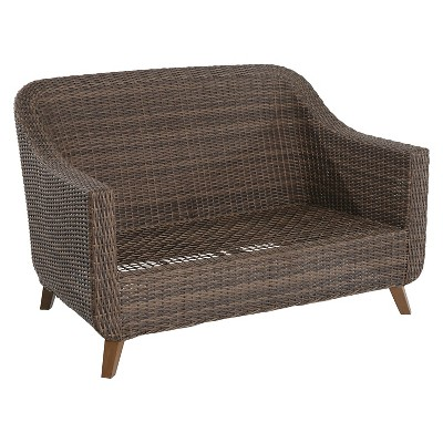 outdoor loveseat mayhew wicker patio loveseat - frame only - threshold™ KUHMYHO