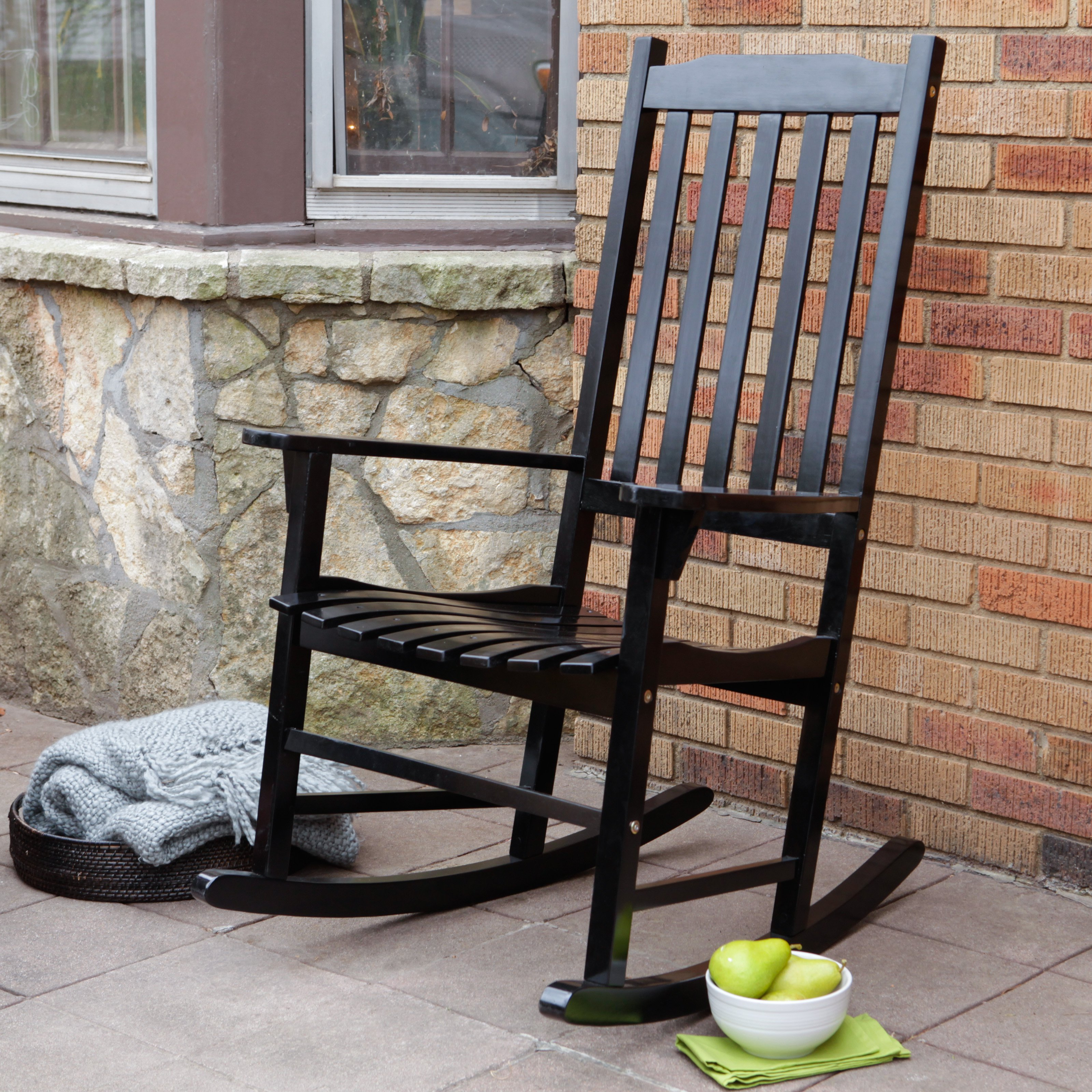 outdoor rocking chair belham living cottonwood indoor/outdoor wood rocking chair - gray |  hayneedle NPBPYUU
