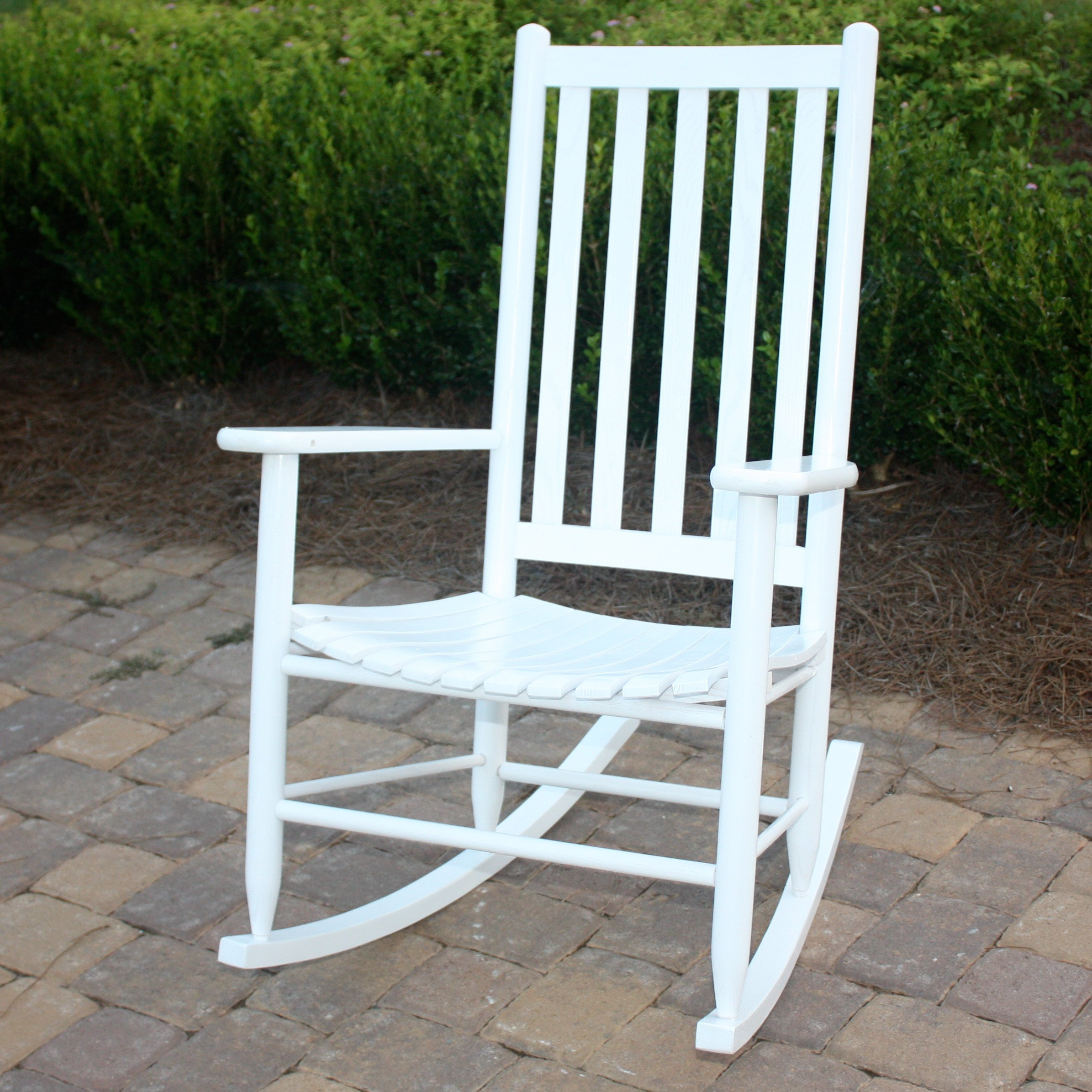 Wonderful Outdoor Rocking Chair Dixie Seating Georgetown Hickory Outdoor Slat Rocking  Chair | Hayneedle YUCSWKV