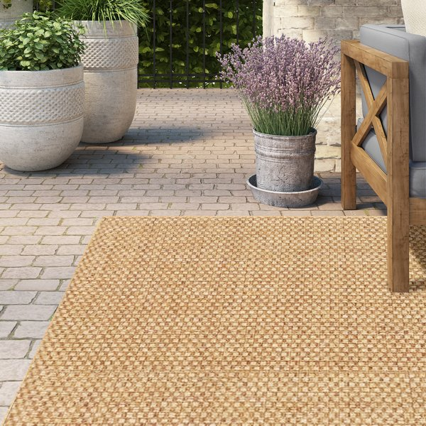 outdoor rugs lark manor orris sand indoor/outdoor area rug u0026 reviews | wayfair GWTARXO
