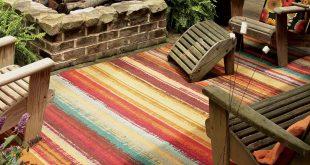 outdoor rugs mohawk home avenue stripe indoor/outdoor nylon rug, multi-colored -  walmart.com ZNNZGLD