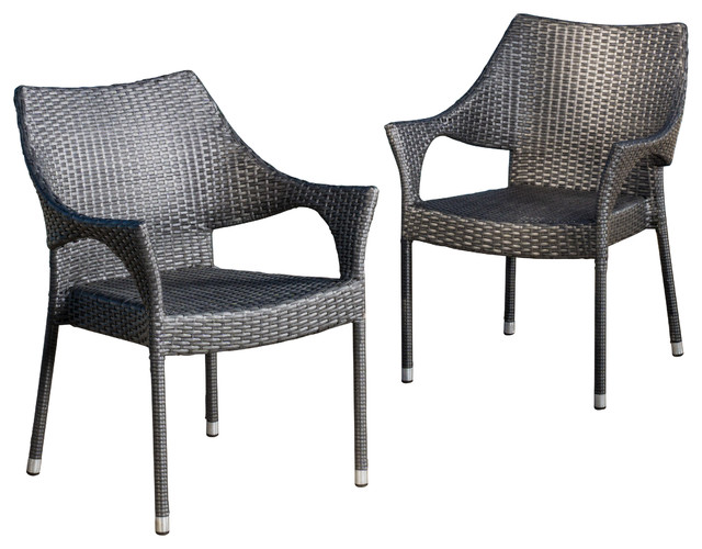 outdoor wicker chairs alameda outdoor chairs, set of 2 contemporary-outdoor-dining-chairs STEDIYZ