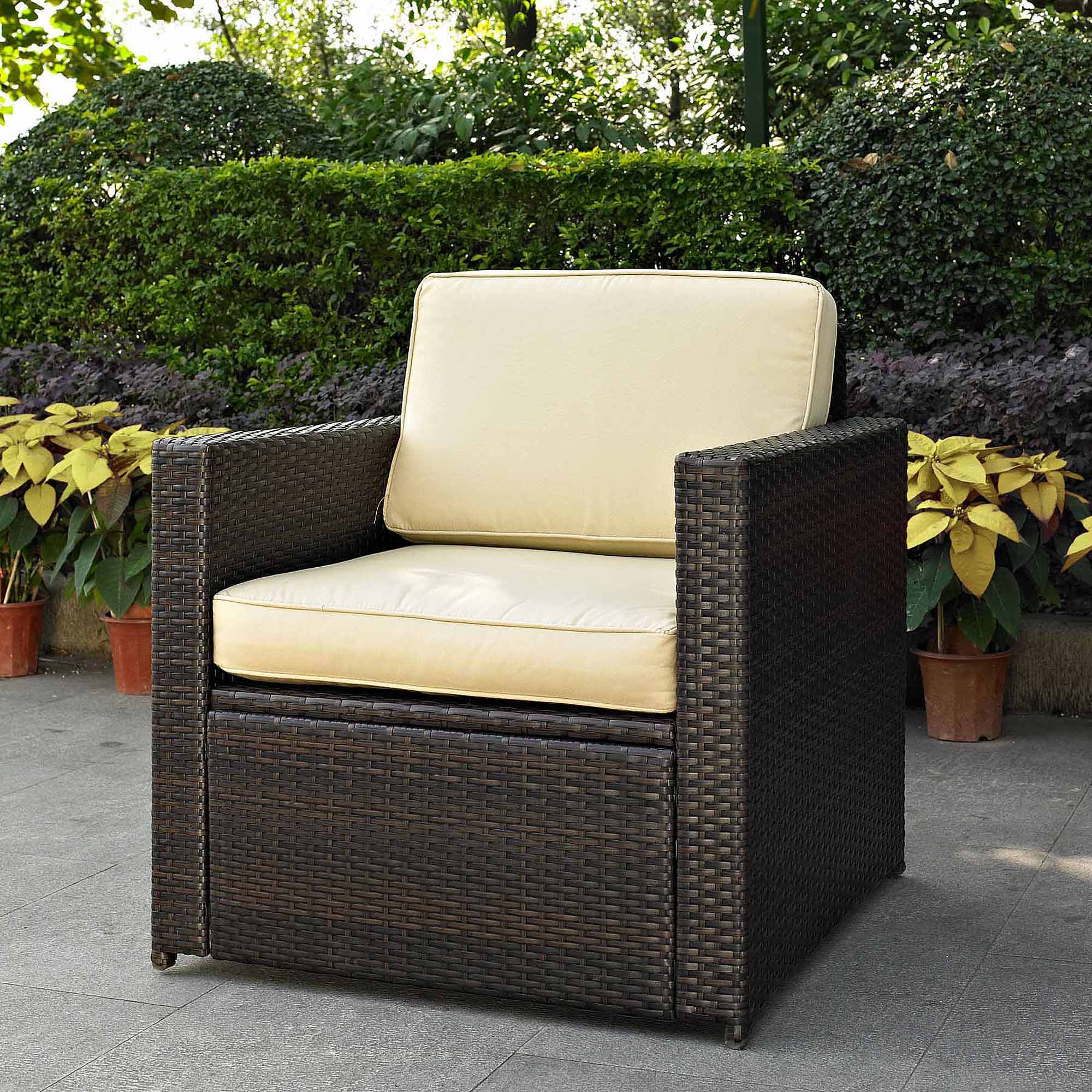 outdoor wicker chairs crosley furniture palm harbor outdoor wicker stackable chairs, 4pk -  walmart.com DEJBQQB