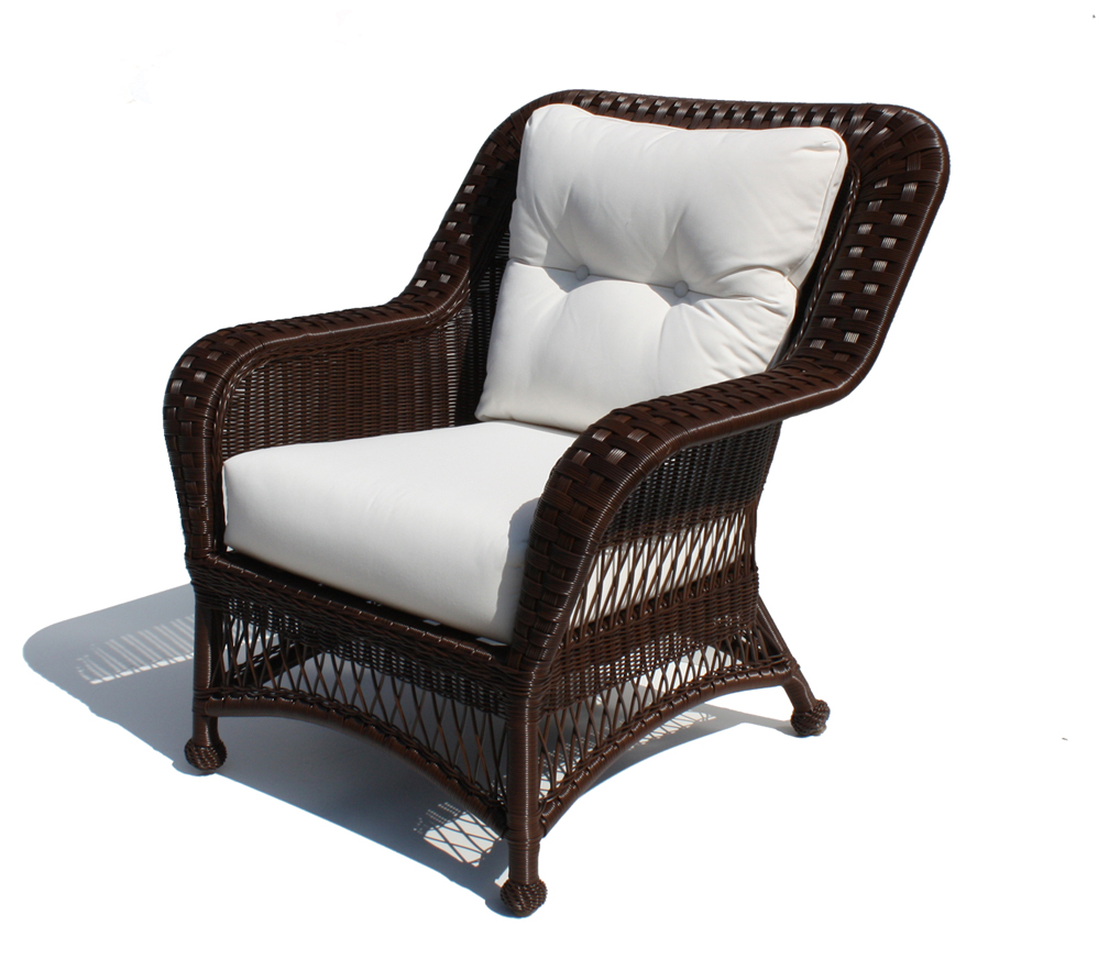 outdoor wicker chairs outdoor wicker chair - princeton shown in brown | wicker paradise SBMBNJC