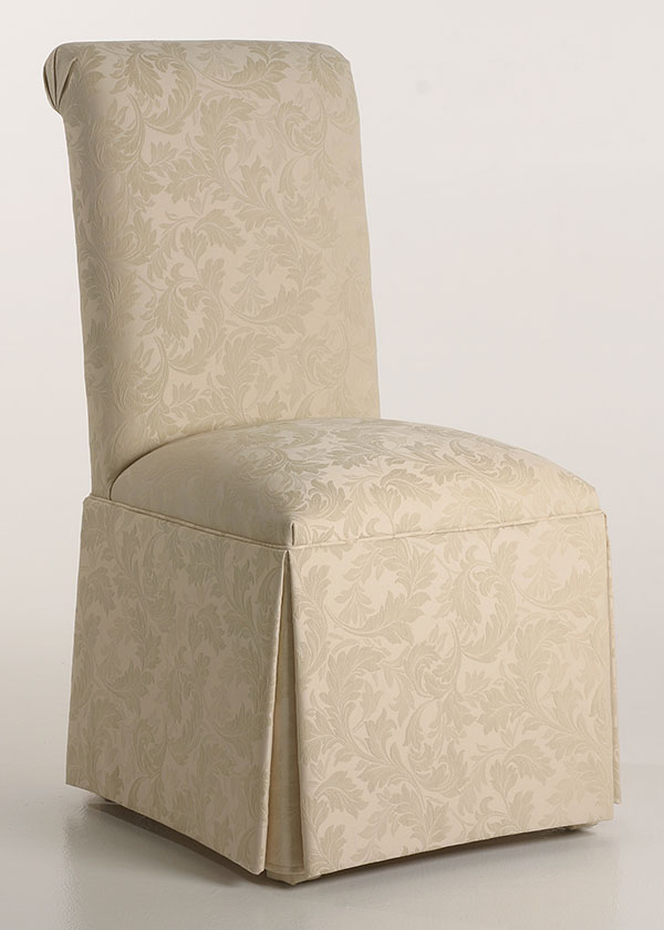 parsons chairs scroll back parson chair with kick-pleat skirt BCMTVZT