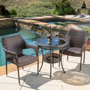 patio bistro set crowley 3 piece bistro set TZMMBXI