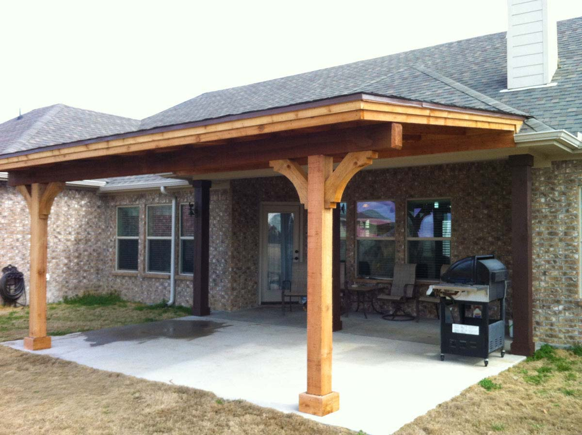 patio covers corbel patio cover royce city ... XEKPVME