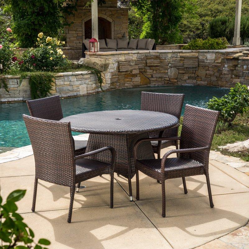 patio dining set patio dining sets youu0027ll love   wayfair EBKJQIF