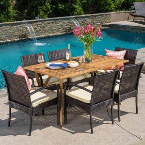 patio dining set rincon 7 piece dining set PCHETAL