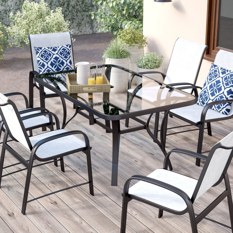 patio dining sets bellbrook 7 piece patio dining set CPILCIB