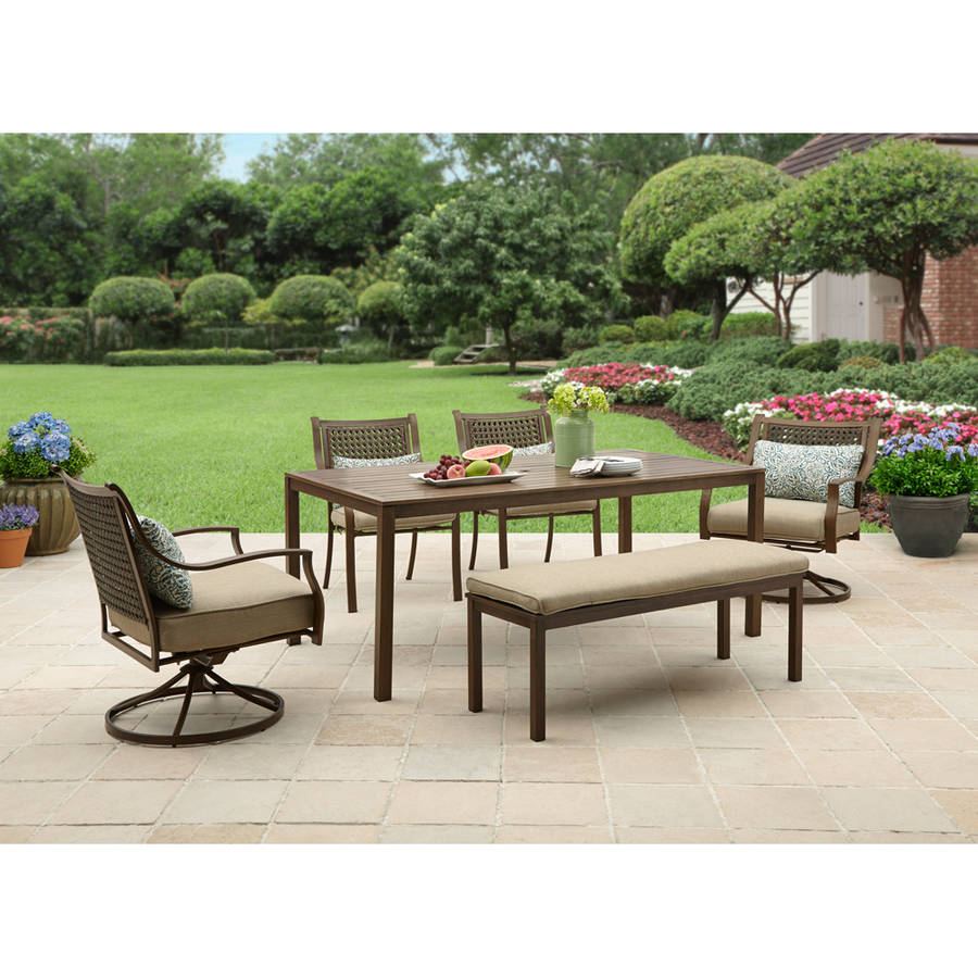 patio dining sets better homes and gardens lynnhaven park 6-piece patio dining set UZCEQWF