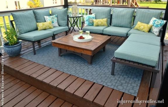 patio rugs how to stencil an outdoor patio rug | project by infarrantly creative using VCVKZAC