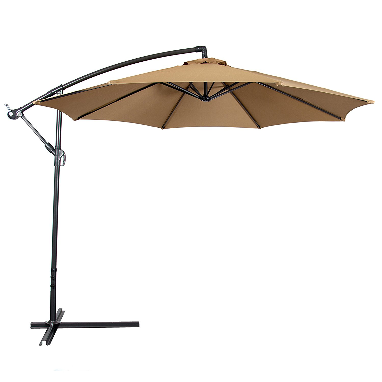patio umbrellas amazon.com : best choice products patio umbrella offset 10u0027 hanging umbrella  outdoor PRBTEML