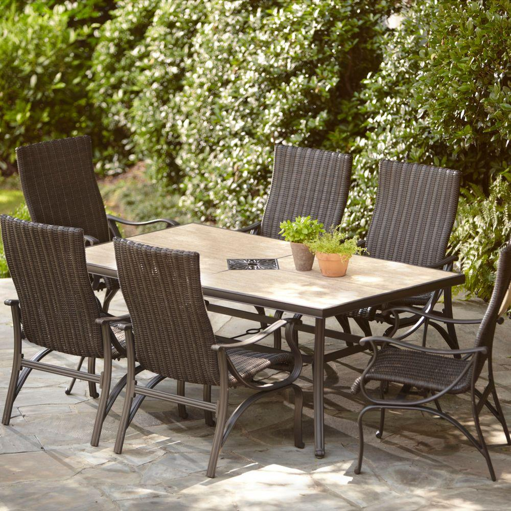 pembrey 7-piece patio dining set ULROCVI