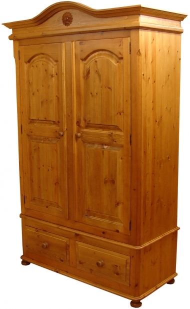 pine wardrobes chatsworth pine 2 drawer double wardrobe GRVLKHC