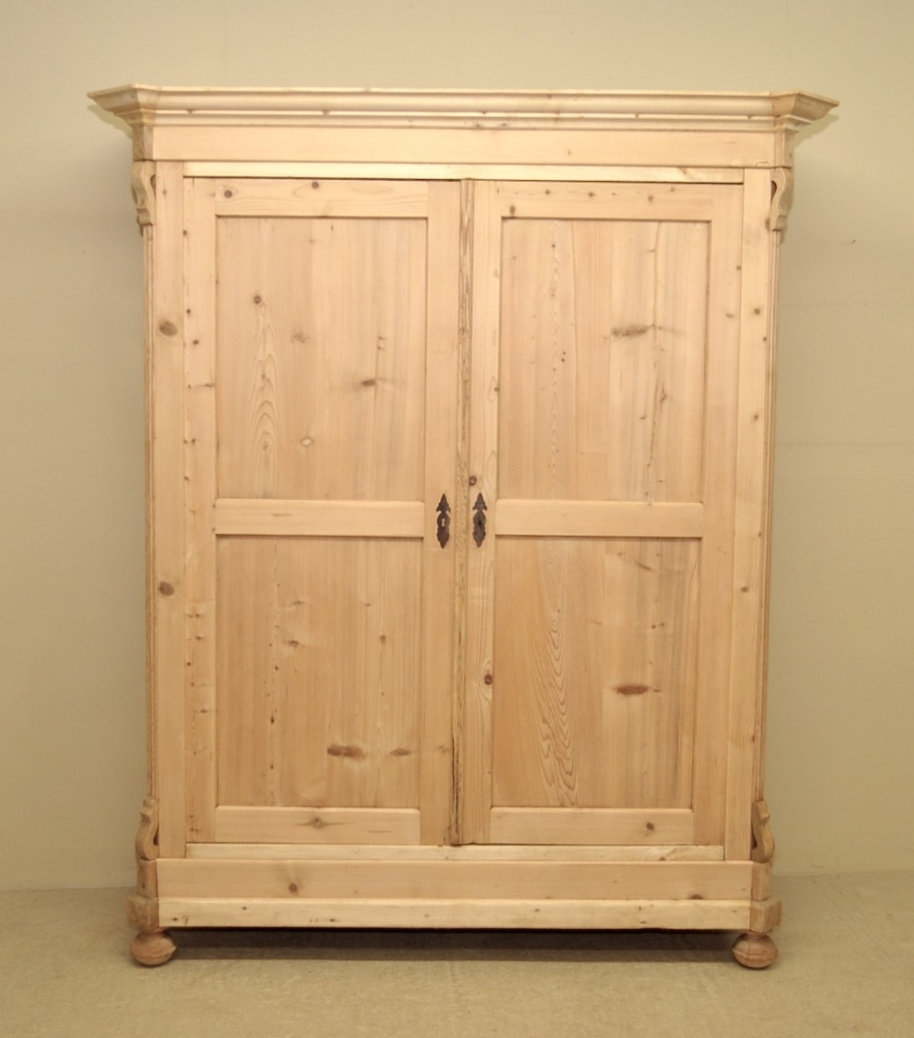 pine wardrobes large antique pine double wardrobe TFMUICG
