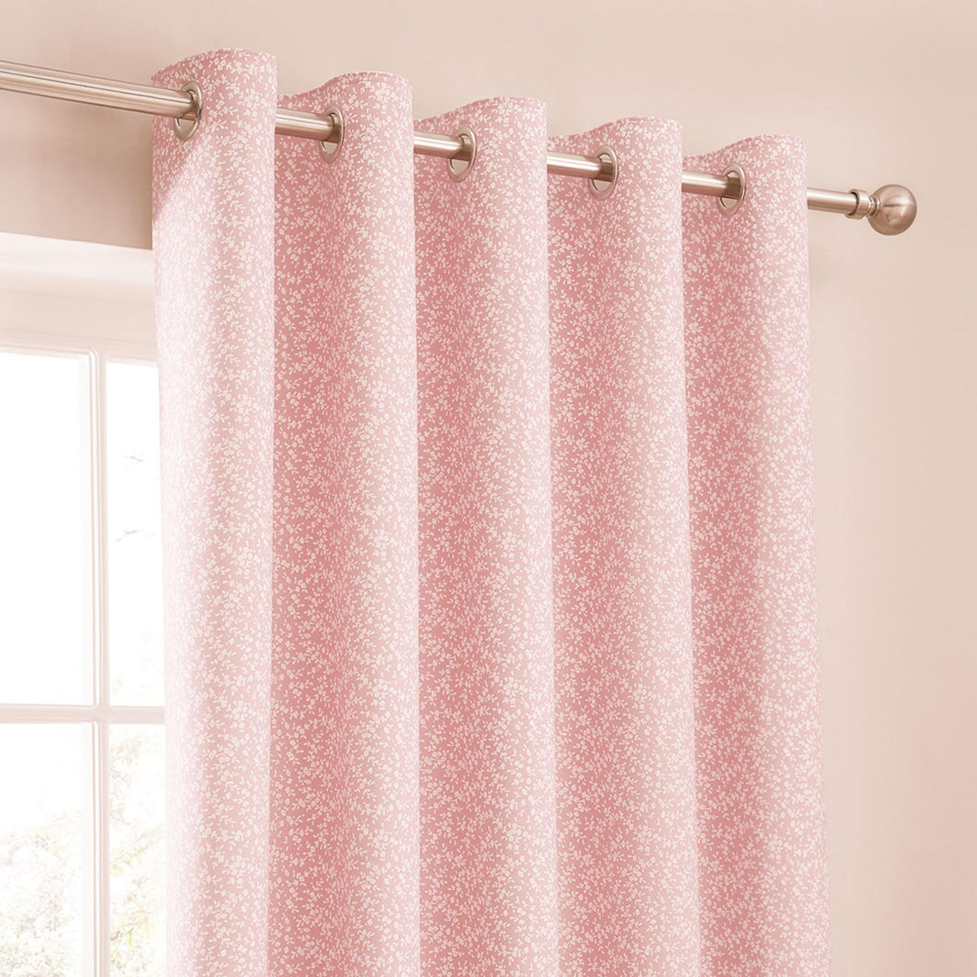 pink curtains annie pink thermal eyelet curtains NLDEMRY