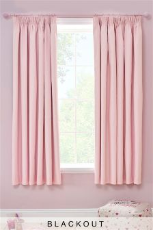 pink curtains blackout pencil pleat curtains AMRSYTF