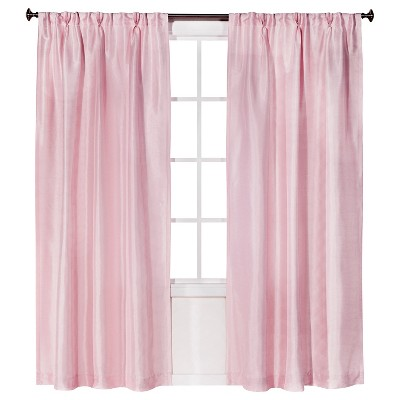 pink curtains faux silk pleat curtain panel - simply shabby chic™ UWVZFGM