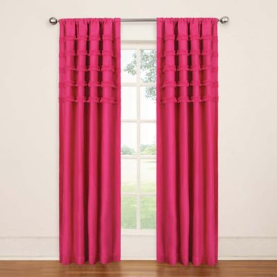 pink curtains solarshield® rihanna rod pocket 84-inch room darkening window curtain panel  in pink CGDKLOS