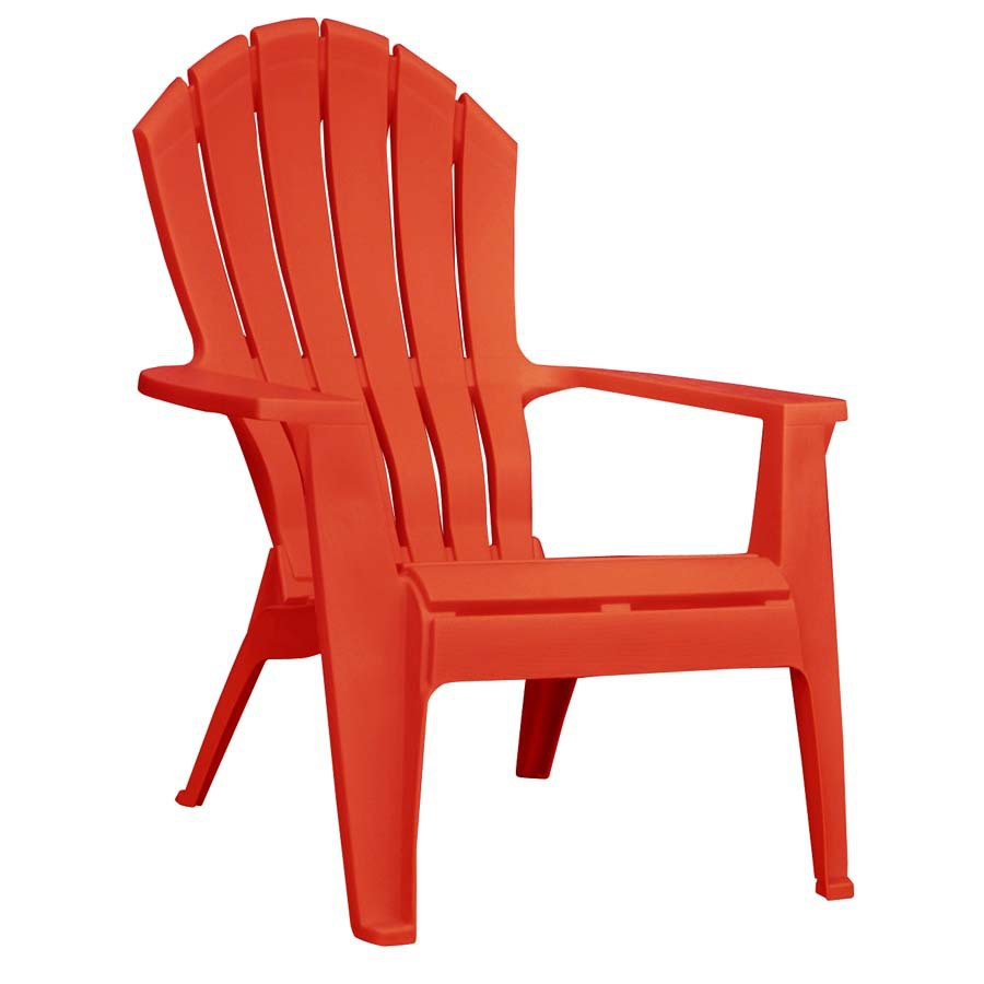 plastic adirondack chairs adams mfg corp 1-count red resin stackable patio adirondack chair with ZWIDLIH