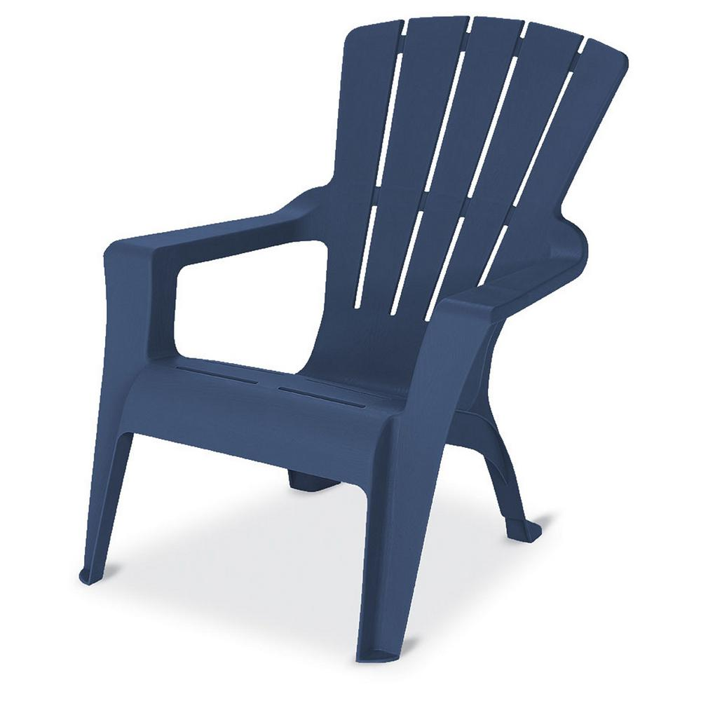 plastic adirondack chairs null midnight stackable outdoor adirondack chair PTEQRSG