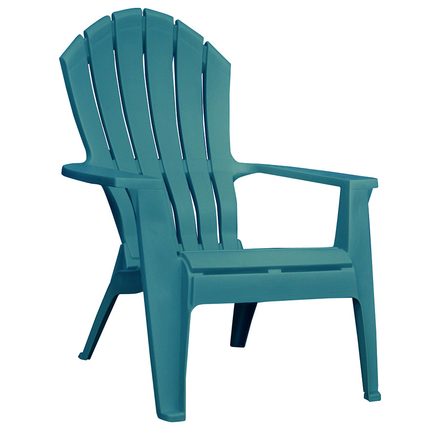plastic patio furniture adams mfg corp 1-count teal resin stackable patio adirondack chair with XSJBEHP
