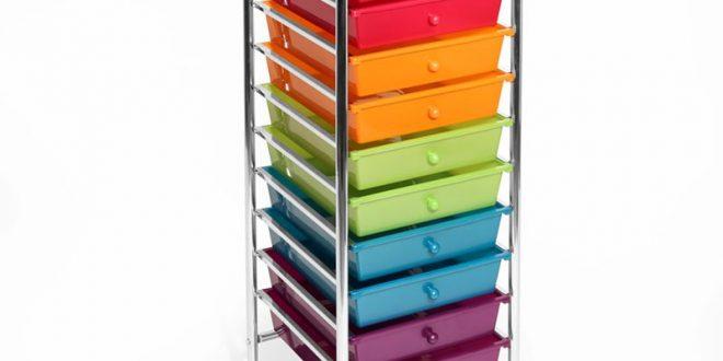 plastic storage drawers 10-drawer storage chest MCHIGDY