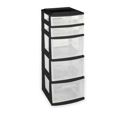 plastic storage drawers 5-drawer polypropylene medium cart UUUKIFC
