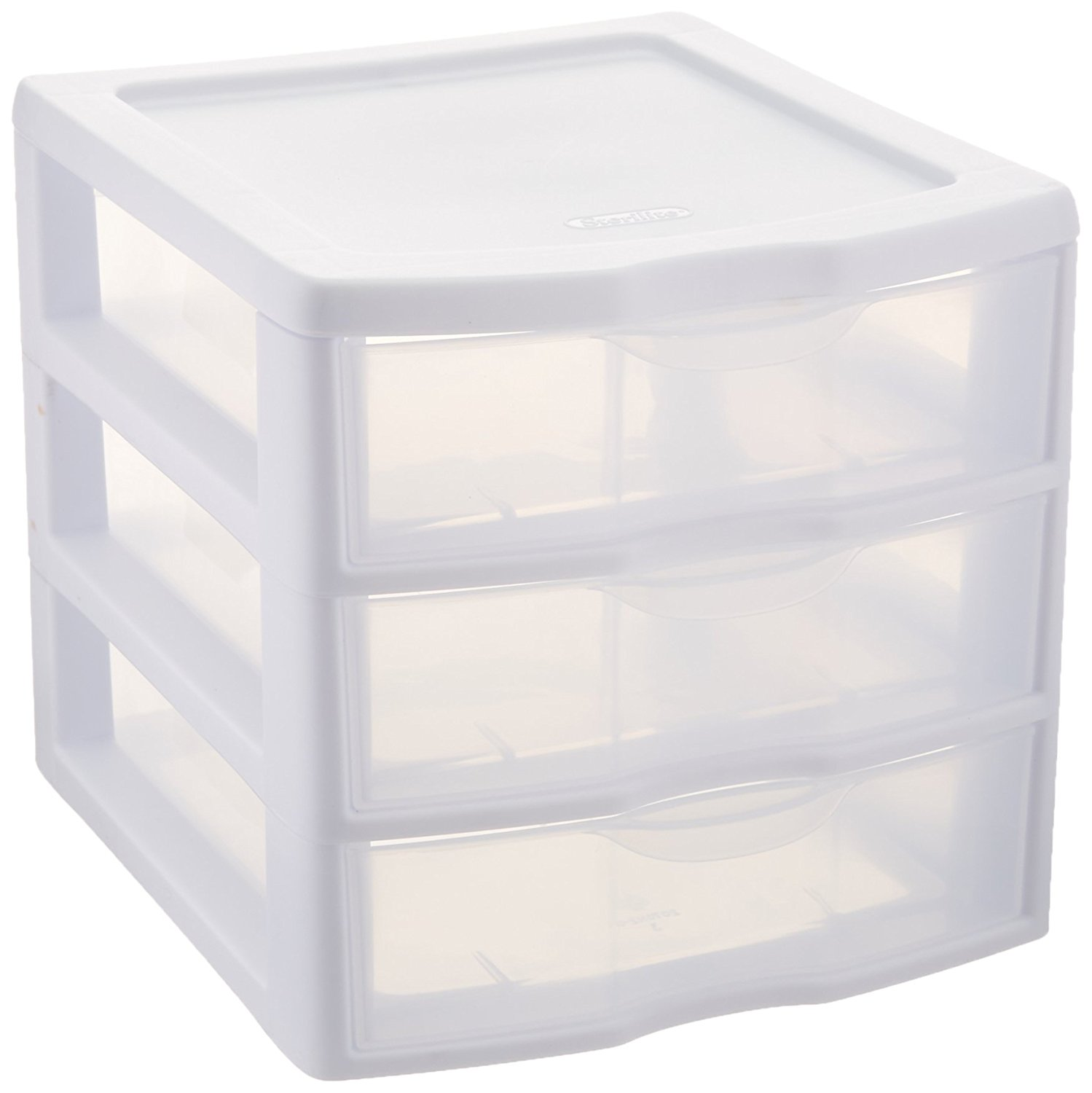 plastic storage drawers amazon.com: sterilite clearview 3 storage drawer organizer: home u0026 kitchen NNUHMFF