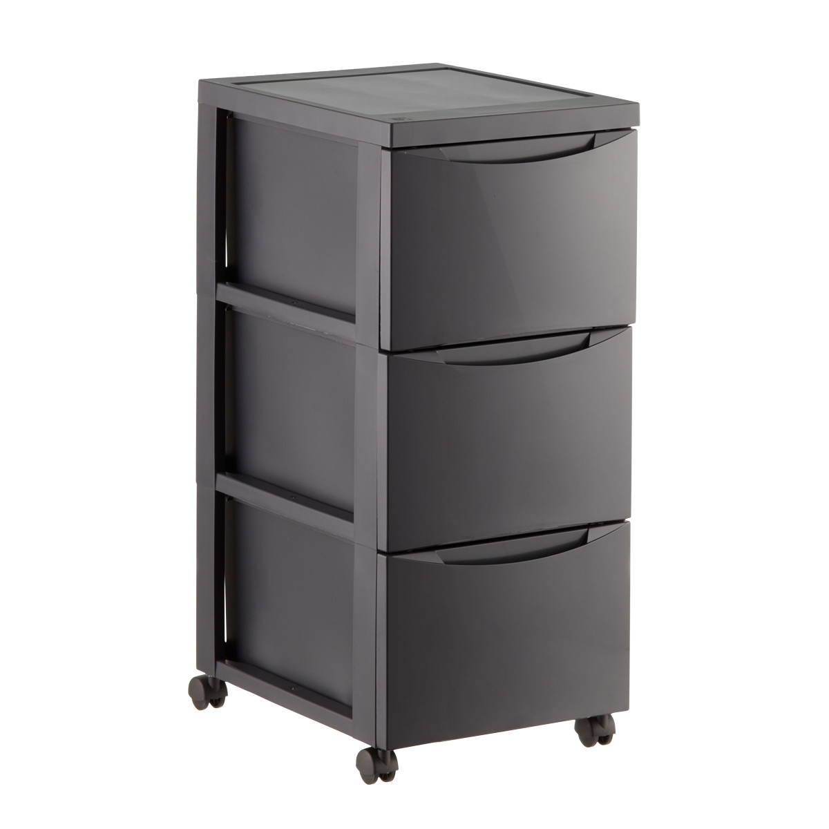 plastic storage drawers grey 3-drawer plastic storage chest with wheels ... HOZASRC