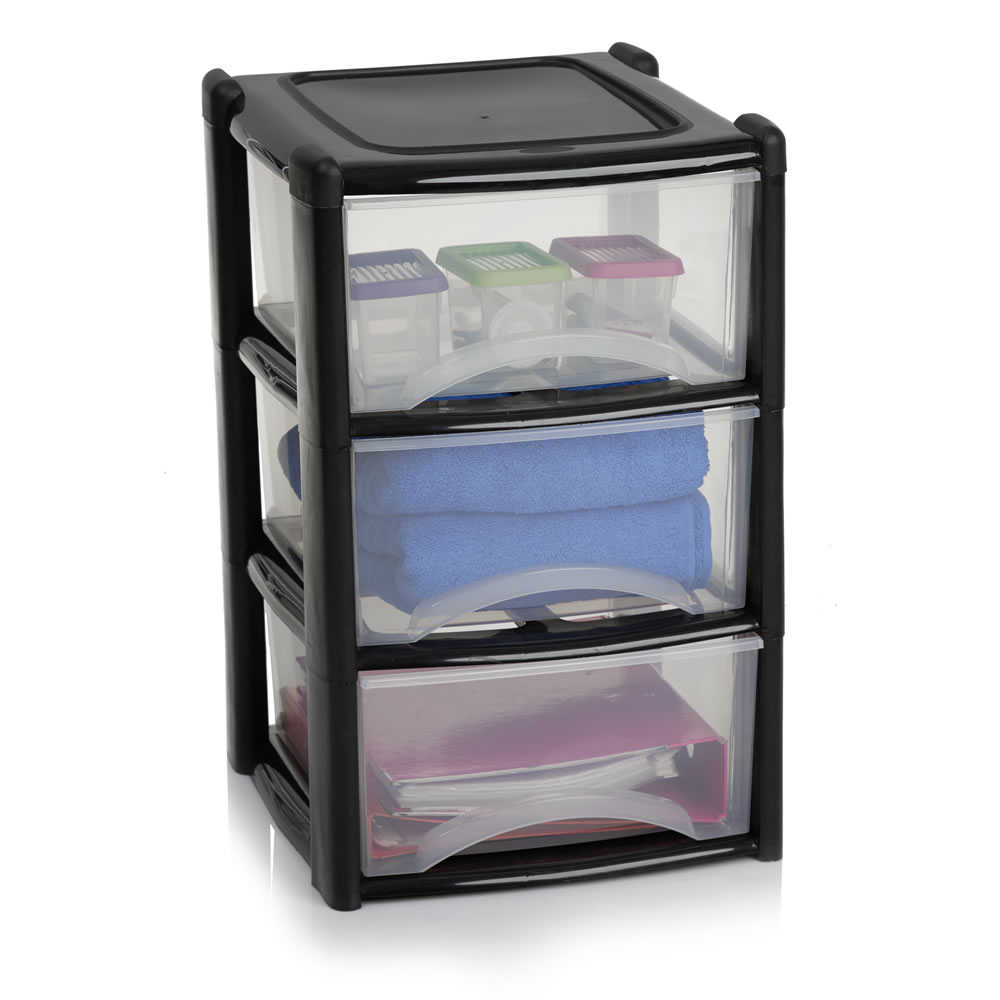 plastic storage drawers wilko storage unit 3 drawer assorted KPZJPZA