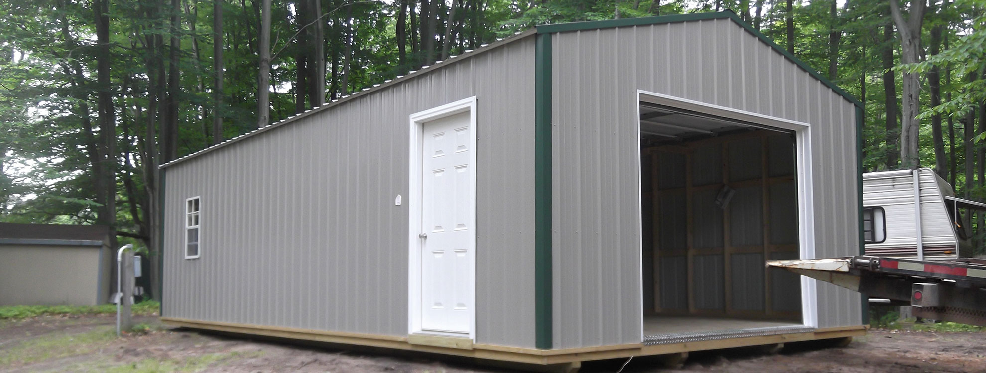 ez shed deluxe barn lofted sheds home cabin buildings portable cabins