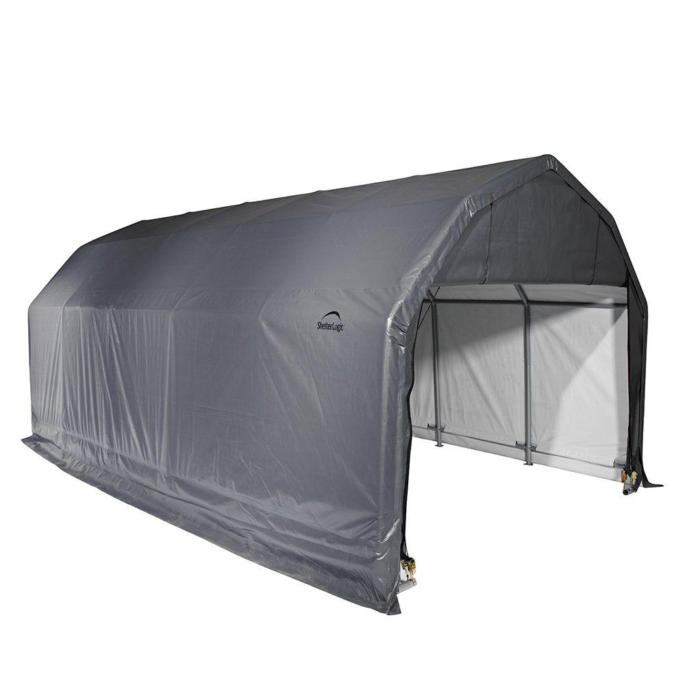portable garage grey steel and polyethylene garage without floor-90153.0 - the home depot DEWGNPX