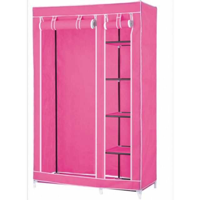portable wardrobe closets | cute pink portable wardrobe closet storage  ideas for LDIJUGV