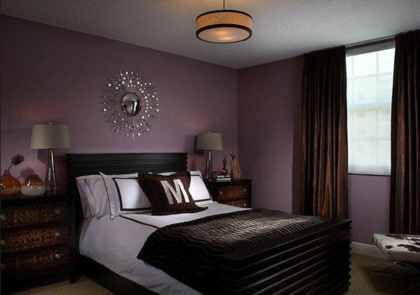 purple bedroom transitional QCVZNNU