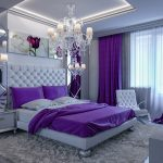 Add elegance with a purple bedroom