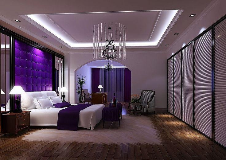 purple bedrooms purple bedroom | purple luxury bedroom | 3d house, free 3d house pictures HVSCYCA