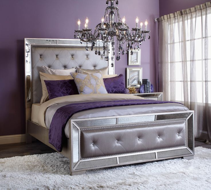 purple bedrooms regal retreat. click to get the look! YXGEWMV