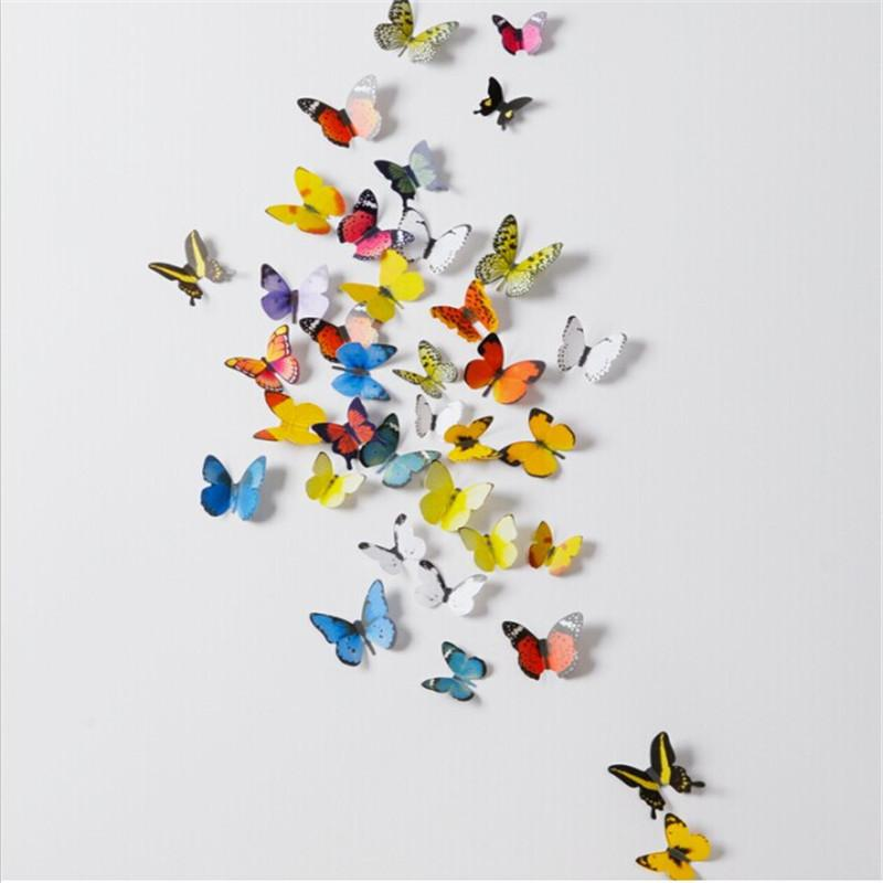 pvc 3d butterfly wall decor cute butterflies wall stickers art decals home CTEOIMY