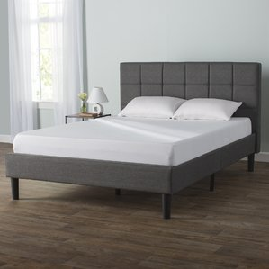 queen size bed colby upholstered platform bed SLJWNKF